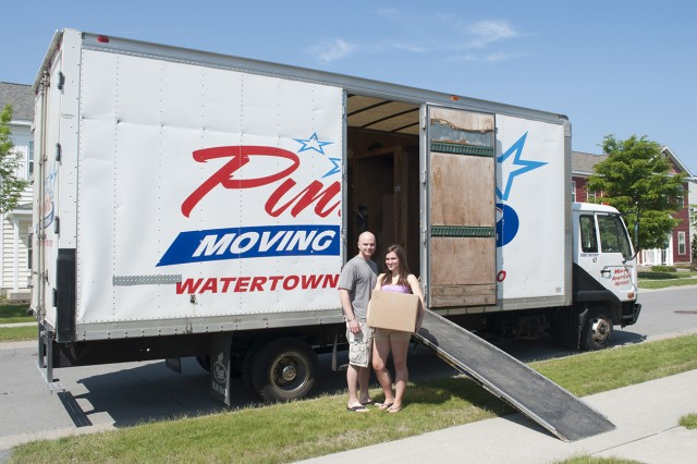 A young couple prepares for their upcoming move from Fort Drum, N.Y., in May.