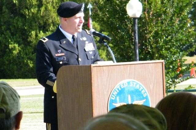 Maj. Gen. William K. Gayler, USAACE and Fort Rucker commanding general, speaks to the crowd during the Fort Rucker Memorial Day ceremony May 27.