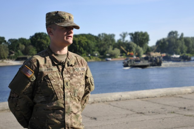Army 1st Lt. Kyle Griffin, armor officer assigned to 4th Squadron, 2nd Cavalry Regiment, and participant in Exercise Anakonda 2016 believes the Polish-led, multinational training enhances unit readiness by building professional relationships and creating joint standards.