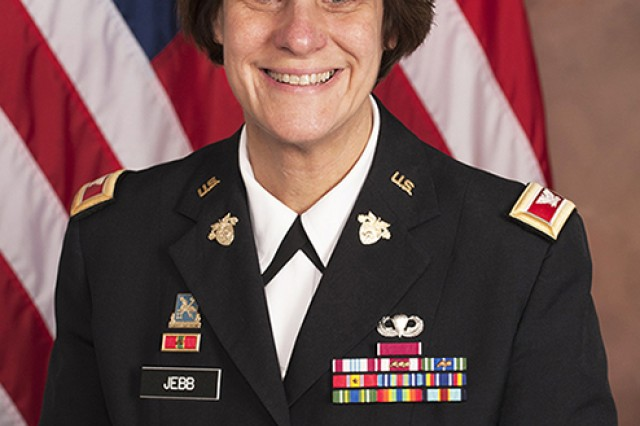 Col. Cindy Jebb will be the first women in West Point history to hold the position of U.S. Military Academy Dean of the Academic Board (U.S. Army photo by Michelle Eberhart, USMA West Point Public Affairs/released.)