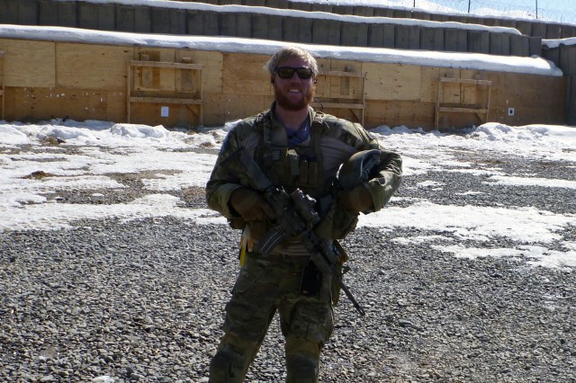 Sgt. 1st Class Richard Harris, a special forces soldier with 10th Special Forces Group (Airborne), pauses for a photo in 2012 at Forward Operating Base Airborne in the Wardack Province, Afghanistan. Harris was awarded with the Silver Star medal at a ceremony held June 3, 2016 at Fort Carso, Colo. for gallantry and heroic actions on Sept. 13, 2011 when he prevented a determined enemy force in Afghanistan from taking the body of his fallen team sergeant, Master Sgt. Danial Adams. (Courtesy Photo)