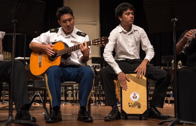 National Guard, Local Students Perform Together in Fellowship Concert