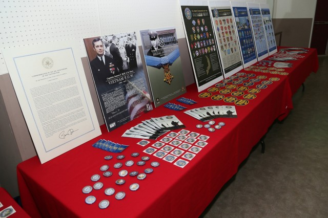 Vietnam memorabilia was on display at the Camp Zama Community Recreation Center during the annual Vietnam Commemoration Ceremony June 15 hosted by USAG Japan. (U.S. Army photo by Yuichi Imada)