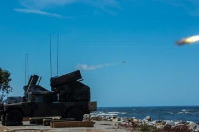 While at exercise Anakonda 16, Soldiers from the 174th Ohio National Guard Air Defense Artillery Brigade conducted an Avenger Stinger Live Fire.