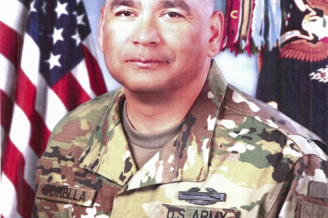 CSM Ronald Corella entered the Army on 21 May 1993 from Atlanta Georgia and conducted One Stop Unit Training (OSUT) at Fort Benning, GA where he was awarded the Military Occupational Specialty 11C, Indirect Fire Infantryman. CSM Corella's assignments include gunner on 120mm mortar, 2nd Squadron 3rd Armored Cavalry Regiment Fort Bliss, TX; Squad Leader, 2nd Squadron 3rd Armored Cavalry Regiment, Fort Carson, Colorado; Fire Direction Chief, 1st Squadron 11th Armored Cavalry Regiment, Fort Irwin, California; Section Sergeant, 1st Battalion 17th Infantry Regiment, Fort Wainwright, Alaska; Section Sergeant and Platoon Sergeant, 3rd Squadron 3rd Armored Cavalry Regiment, Fort Carson, Colorado; Platoon Sergeant, 3rd Squadron 3rd Armored Cavalry Regiment, Fort Hood, Texas; BOLC II First Sergeant, 1st Battalion 22nd Infantry Regiment, Fort Sill, Oklahoma; Rifle Company First Sergeant, 2nd Squadron 2nd Cavalry Regiment, Vilseck, Germany; Senior Military Science Instructor, Tarleton State University, Stephenville, Texas, Operations Sergeant Major, 3rd Battalion 21st Infantry Regiment, 1st SBCT Fort Wainwright AK. CSM Corella has deployed to Afghanistan in Operation Enduring Freedom, and to Iraq in support of Operation Iraqi Freedom and Operation New Dawn. CSM Corella's military education includes Warrior Leaders Course, Advance Leaders Course, Senior Leaders Course, Equal Opportunity Representative Course, Basic Mountaineering Course, Master Resilience Training level 1, and is graduate of USASMA class 65.  He has a Bachelor's Degree in Business Management from Excelsior College.  He is also the recipient of the Military Order of Saint Maurice and Noble Patron of Armor. CSM Corella's awards and decorations include the Bronze Star with Valor device, Bronze Star with 2 oak leaf clusters, Meritorious Service Medal with 2 oak leaf clusters, Army Commendation Medal with Valor device with oak leak cluster, Army Commendation Medal with 4 oak leaf clusters, Army Achievement Medal with 6 oak leaf clusters, Good Conduct Medal, 7th Award, National Defense Service Ribbon with Bronze Star, Afghanistan Campaign Medal with Bronze Star, Iraqi Campaign Medal with 3 Bronze Star,  Global War on Terrorism Service Medal, Global War on Terrorism Expeditionary Medal, Professional Development Ribbon with numeral 3, Army Service Ribbon, Overseas Ribbon with numeral 5,  NATO Medal International Security Assistance Force, Valorous Unit Award with 2 oak leafs, and Meritorious Unit Award. His military badges include the Expert Infantryman Badge and the Combat Infantryman Badge. CSM Corella currently resides in Fort Wainwright and is married to the former Lourdes Rivera and they have two daughters, Stephanie (26) and Jessica (24) living in Texas.