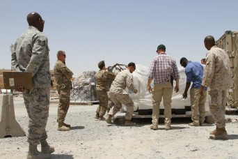 Soldiers, Marines, Airmen join forces; safety of ITEF airlifts