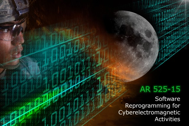 "Newly revised Army Regulation 525-15, ""Software Reprogramming for Cyber Electromagnetic Activities,"" focuses on supporting the integrated multi-mission nature of cyber-electromagnetic activities through sustainment of the CEMA-enabling software-based systems."