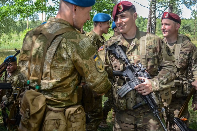 Exercise Anakonda 2016 allowed Soldiers from the U.S. 173rd Airborne Brigade to meet their counterparts in other participating countries. Exercise Anakonda 16 is a Polish-led joint multinational exercise that brings together 24 allies and partner nations to test the ability and readiness of the Polish Armed forces with allies and partners.