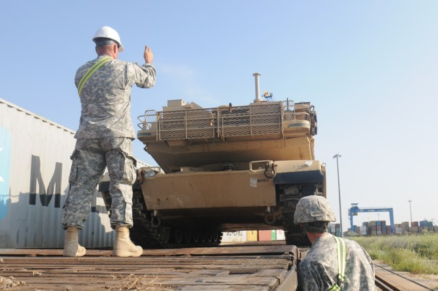 Vehicles roll into Romania for Saber Guardian