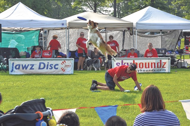 The Disc Dogs from Kansas City will perform again this year, with shows scheduled at 5 and 7 p.m.