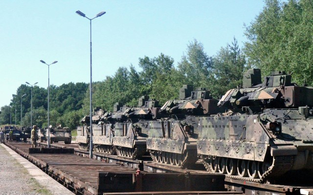Tanks, Bradleys back in the Baltics, Central and Southeastern Europe