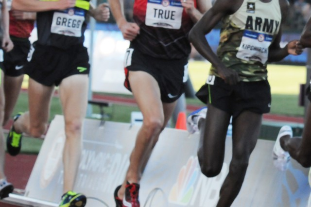 Spc. Shadrack Kipchirchir races at the 2016 U.S. Olympic Team Trials - Track & Field, held July 1, 2016, in Eugene, Oregon.