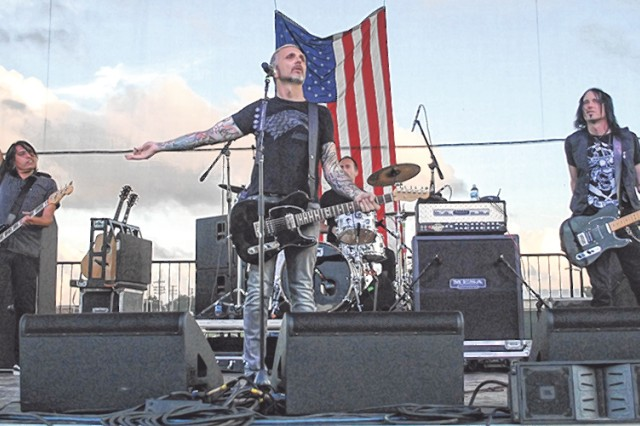 Everclear performs before an estimated crowd of 12,000 people Monday. Officials believe this year's event marked an increase of service member participation. Photo by Caitlyn Marler/FMWR marketing