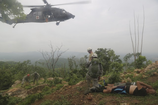 Soldiers from the Washington National Guard conduct search and rescue training during Hanuman Guardian with partners in the Royal Thai Army on Fort Adisorn, Thailand on July 6th, 2016.