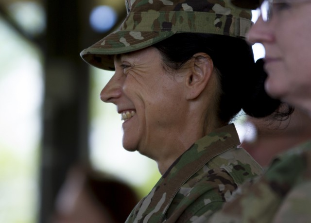 Largest military police command bids farewell to commanding general