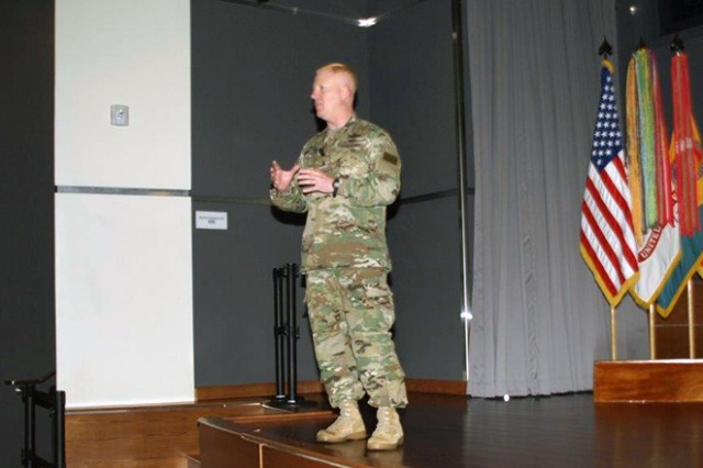 Brig. Gen. Jeffrey A. Farnsworth, HQDA, Director of Army Safety and commanding general, U.S. Army Combat Readiness Center, presented an overview and update of plans to streamline the Army safety and occupational health programs at the 2016 Senior Safety and Occupational Health Summit in Alexandria, Va.