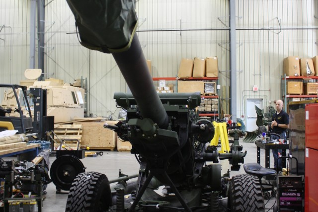 The M119A3 Howtizer at Picatinny Arsenal. It  is a direct and indirect fire-support asset used by the U.S. Army and National Guard's infantry brigade combat teams. Photo by Cassandra Mainiero.
