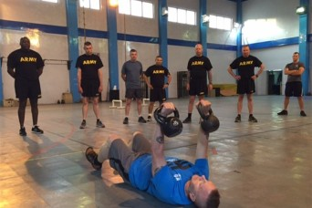 In Afghanistan, top enlisted advisor advocates tough fitness training