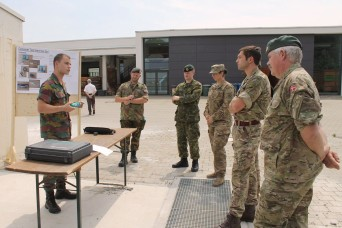 (GRAFENWOEHR, Germany) -- Soldiers from the 10th Engineer Battalion, 1st Armored Brigade Combat Team, 3rd Infantry Division joined Soldiers from 11 NATO countries and one Partner for Peace country for an International Bridge Assessment Course at Ingo...