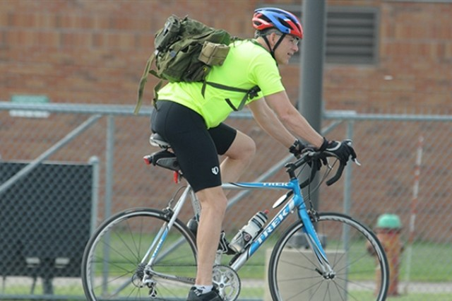 Did you know? According to Army Regulation 385-10, when bicycling on Department of Defense installation roadways during hours of darkness or reduced visibility, bicycles will be equipped with operable head and taillights, and the bicyclist will wear a reflective upper outer garment. Courtesy photo