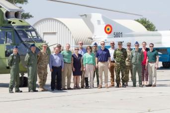 Congressional staff members visit Mihail Kogalniceanu Air Base