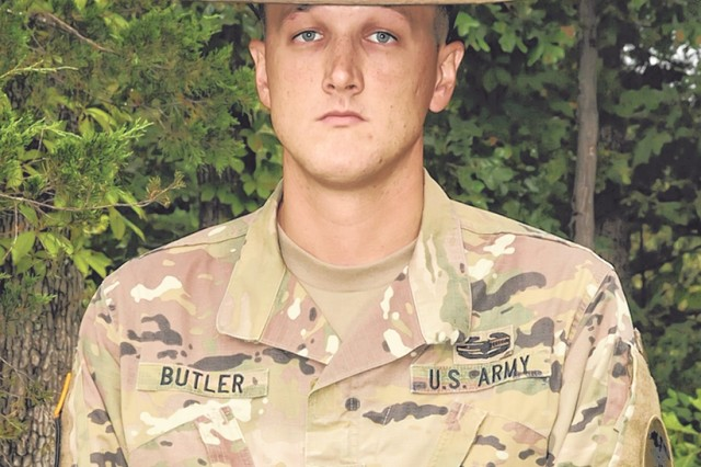 Staff Sgt. Timothy Butler received a Purple Heart for injuries sustained in Iraq in 2008.