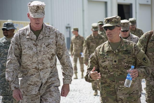 401st AFSBn-Afghanistan 'face to the field' impresses CJTF logistics leadership during visit