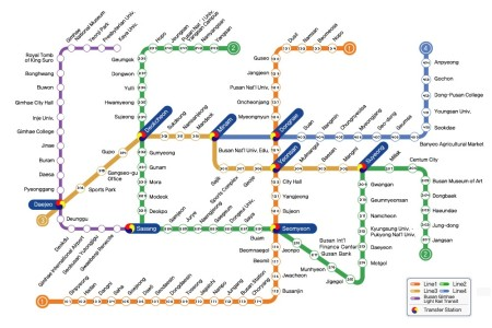 Busan Subway Map 2017.Subway Maps Article The United States Army