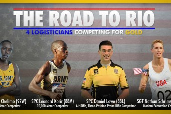 The Road To Rio for four Army logisticians