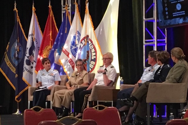 One of the multiple senior panels held during the Joint Women's Leadership Symposium  June 14, 2016 in Crystal City, Virginia.