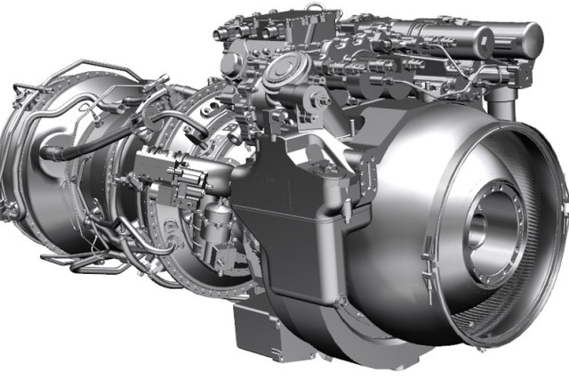 Artist rendering of GE Aviation's advanced helicopter engine design for the Army. GE has made substantial investments in advanced turboshaft engine technology, including the new GE3000 engine for Black Hawk and Apache helicopters.