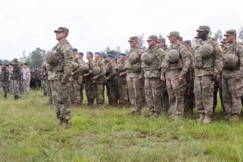 Flaming Thunder Begins, Glory's Guns Soldiers participate in opening ceremony