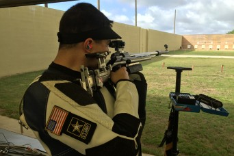 Soldier marksman gets his first taste of the 2016 Olympics