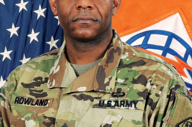 Official photo of CSM Gregory Rowland, 2nd Signal Brigade senior enlisted leader