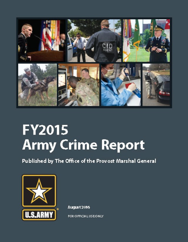 FY2015 Army Crime Report