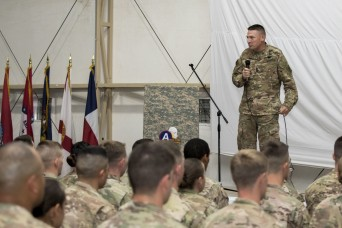 National Guard CSM Visits Deployed Troops