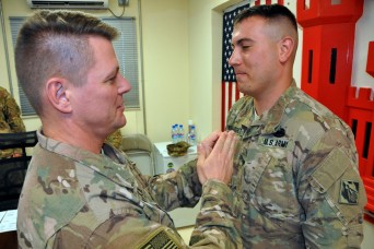 Missouri National Guard Soldier earns the Combat Action Badge