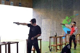 Soldier rebuilds gun to compete in Olympic rapid-fire event