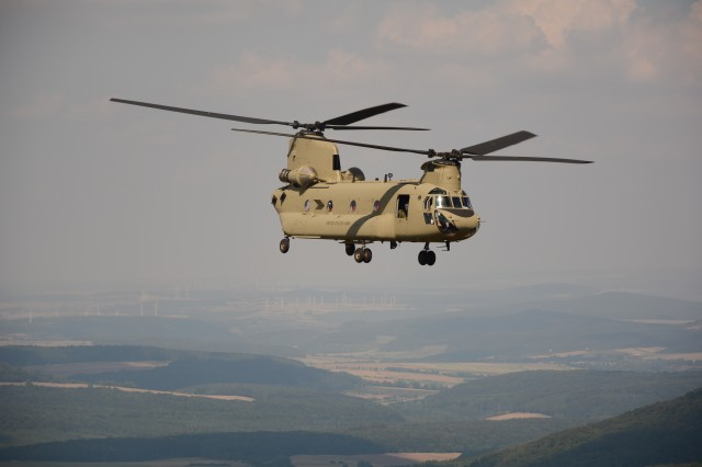 12th CAB Chinooks fly Vice President Joe Biden in Kosovo