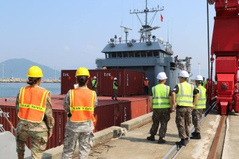 Units and countries work together, refine sea and land transportation skills