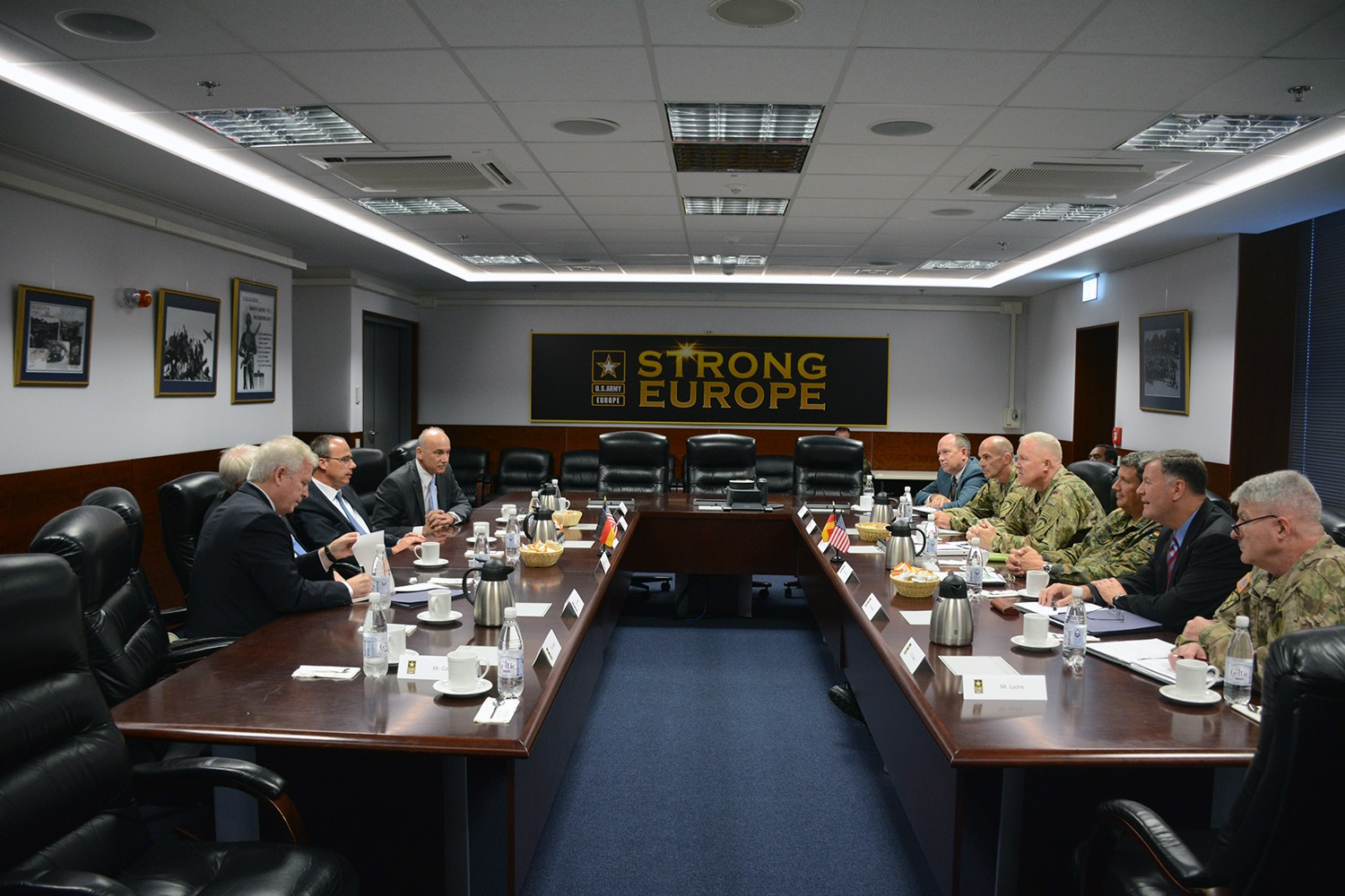 Hessian State Leaders Visit U S Army Europe Headquarters Article The United States Army
