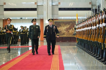 Chief of Staff of the Army Gen. Mark Milley was welcomed by China's ‪People's Liberation Army‬ during his Pacific Command tour, Aug. 17, 2016.