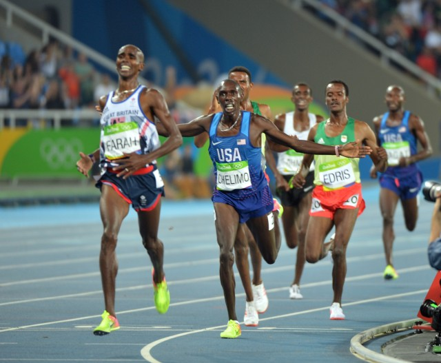 Spc. Paul Chelimo wins silver medal in 5,000 meters at Rio Olympic Games