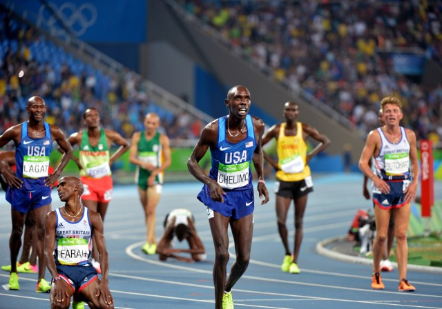 Chelimo, Farah, Lagat react to Rio Games 5K finish