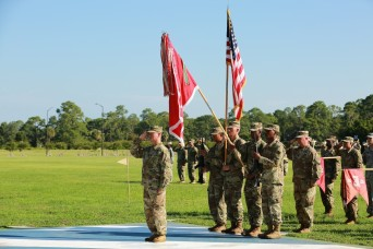 Lt. Col. Michael R. Biankowski, outgoing commander for 9th Brigade Engineer Battalion, 2nd Infantry Brigade Combat Team, 3rd Infantry Division, relinquished command to Lt. Col. Jayson Putnam during a ceremony Aug. 18 on Cottrell Field, Fort Stewart,...