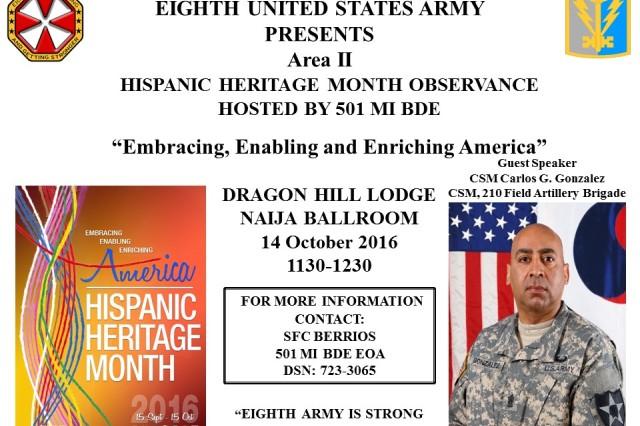 Hispanic Heritage Month Observance