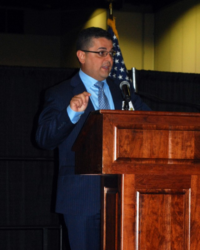 Anibal Negron Presents a Brief on Energy Conservation at Fort Buchanan