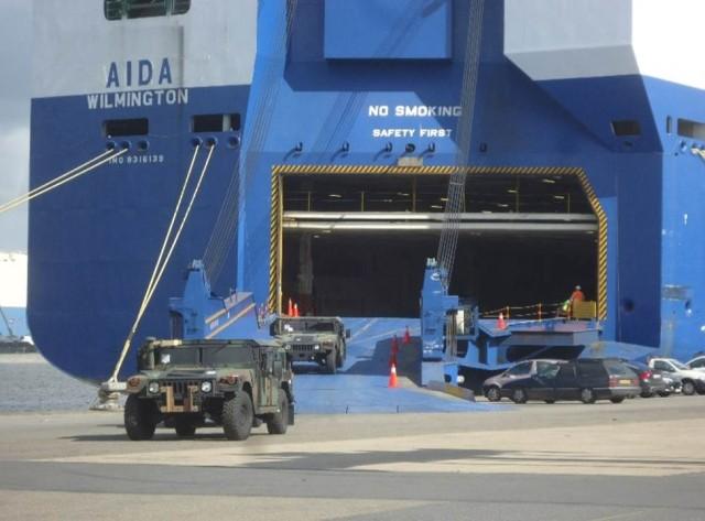 Army Prepositioned Stock begins arriving in Antwerp