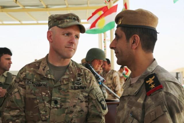 Peshmerga graduate from Modern Brigade Course 2