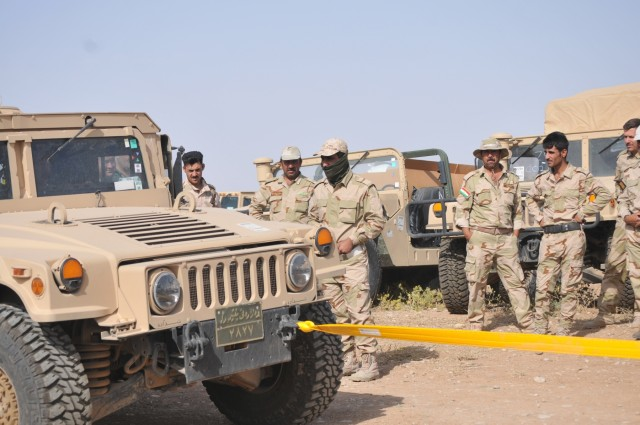 US, German soldiers conduct driver's training with Peshmerga